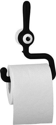 Wieszak na papier toaletowy Toq czarny