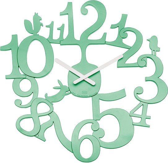 Zegar ścienny Pi:P miętowy