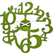 Zegar ścienny Pi:P oliwkowy
