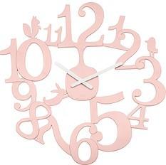 Zegar ścienny Pi:P pudrowy róż