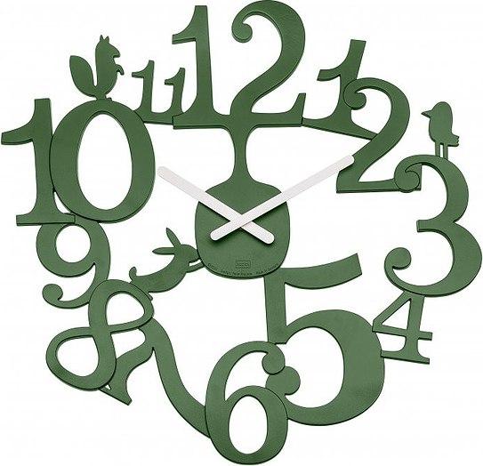 Zegar ścienny Pi:P zieleń leśna