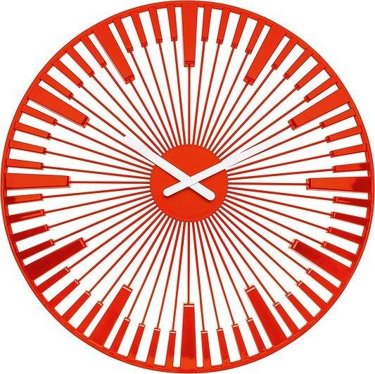 Zegar ścienny Piano pomarańczowoczerwony
