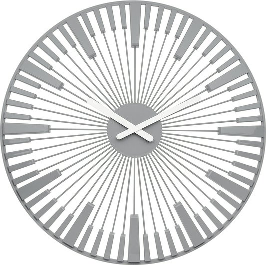 Zegar ścienny Piano szary
