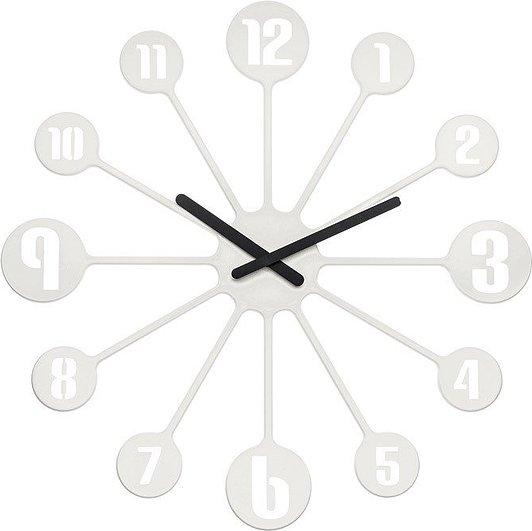 Zegar ścienny Pinball biały