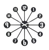 Zegar ścienny Pinball - zdjęcie 1