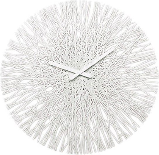 Zegar ścienny Silk biały