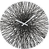 Zegar ścienny Silk czarny