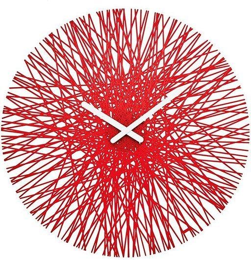Zegar ścienny Silk czerwony