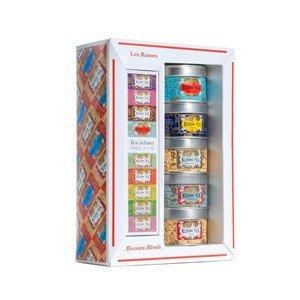 Herbaty Kusmi rosyjskie w zestawie z zaparzaczką 5 x 25g