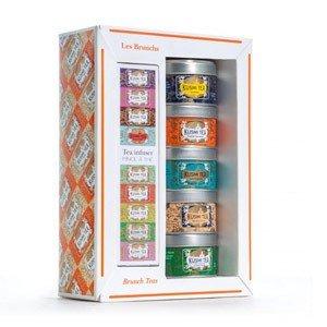 Herbaty Kusmi w zestawie z zaparzaczką Brunch Teas 5 x 25g