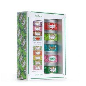 Herbaty Kusmi zielone w zestawie z zaparzaczką 5 x 25g