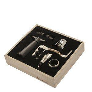 Akcesoria do wina w zestawie prezentowym Legnoart 7 el.