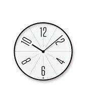 Zegar ścienny Awa Gugu biała tarcza czarna obudowa