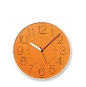 Zegar ścienny Awa Cara pomarańczowa tarcza - małe zdjęcie