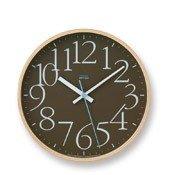 Zegar ścienny AY Clock brązowy - małe zdjęcie