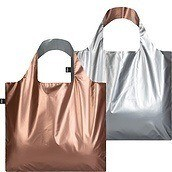 Torba Duo Bag LOQI Metallic Silver & Rose Gold