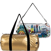 Torba LOQI Weekender dwustronna Kristjana S Williams Interiors Gold & World Skyline