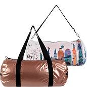 Torba LOQI Weekender dwustronna Kristjana S Williams Interiors Rose Gold & New York