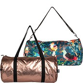 Torba LOQI Weekender dwustronna Metallic Matt Rose Gold