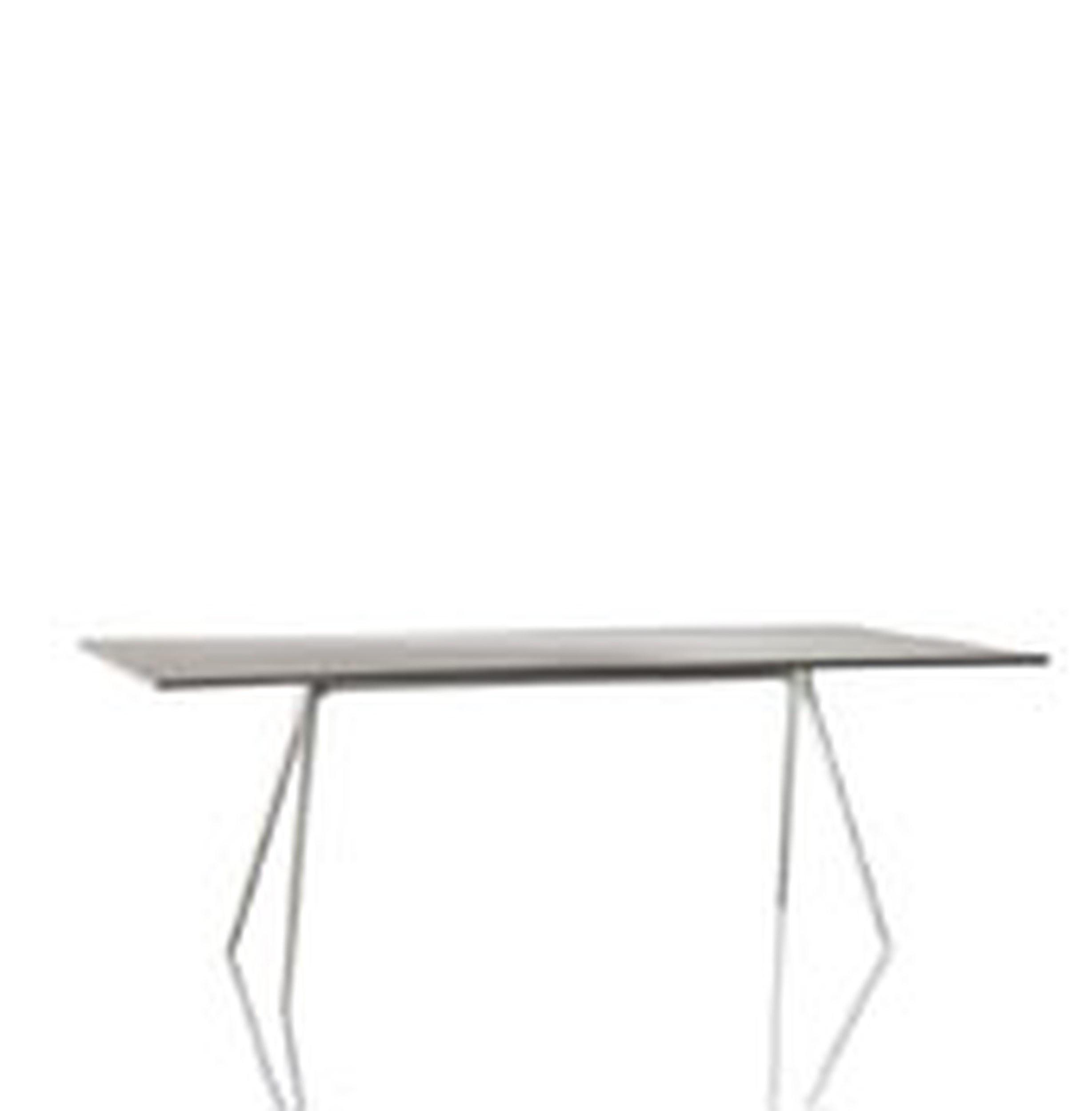 Stół Baguette 160 cm blat kwarcyt rama lakierowana czarna - małe zdjęcie