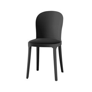 Krzesło czarne Vanity skóra