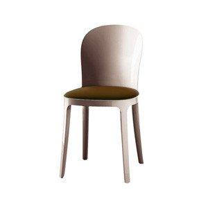 Krzesło przezroczyste brązowe Vanity skóra