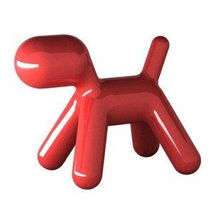 Krzesełko czerwone Puppy błyszczący lakier