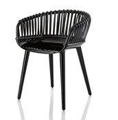 Krzesło Cyborg Club czarna wiklina - małe zdjęcie