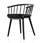 Krzesło Cyborg Stick czarna błyszcząca rama czarne oparcie - małe zdjęcie