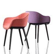 Krzesło Cyborg Lady rama czarna siedzisko lila - małe zdjęcie