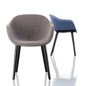 Krzesło Cyborg Lady rama czarna siedzisko szare - małe zdjęcie
