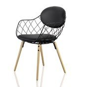 Krzesło Pina czarne, materiał Star, nogi jesion