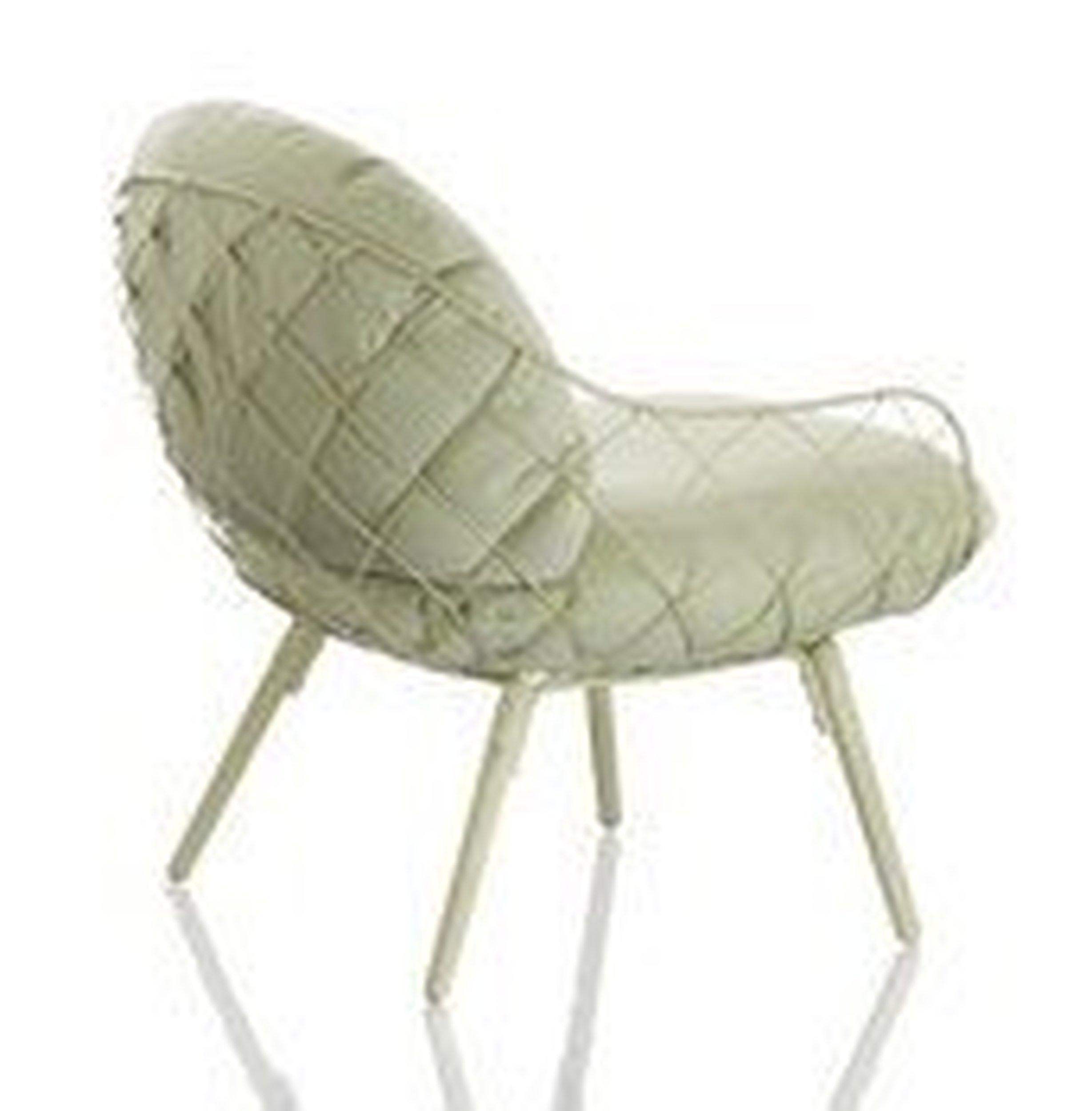 Fotel niski Pina zielone rama i siedzisko, zielone nogi - małe zdjęcie