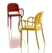 Krzesło Mila tapicerowane żółte - małe zdjęcie