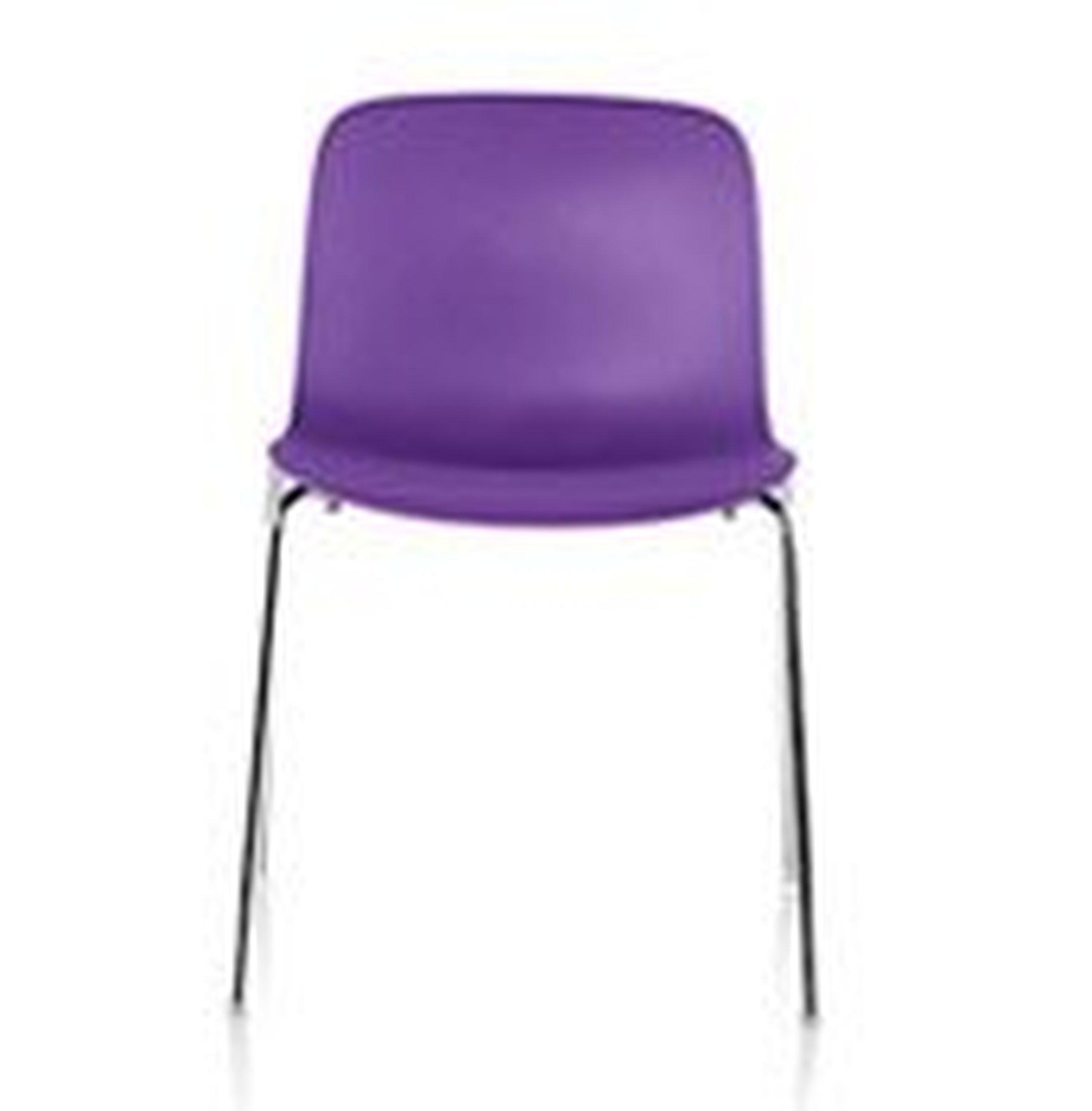 Krzesło Troy Polipropylen chromowana rama fioletowe siedzisko - małe zdjęcie