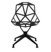 Krzesło Chair_One podstawa obrotowa czteroramienna czarne - małe zdjęcie
