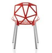 Krzesło Chair_One czerwone z polerowanymi anodyzowanymi nogami - małe zdjęcie
