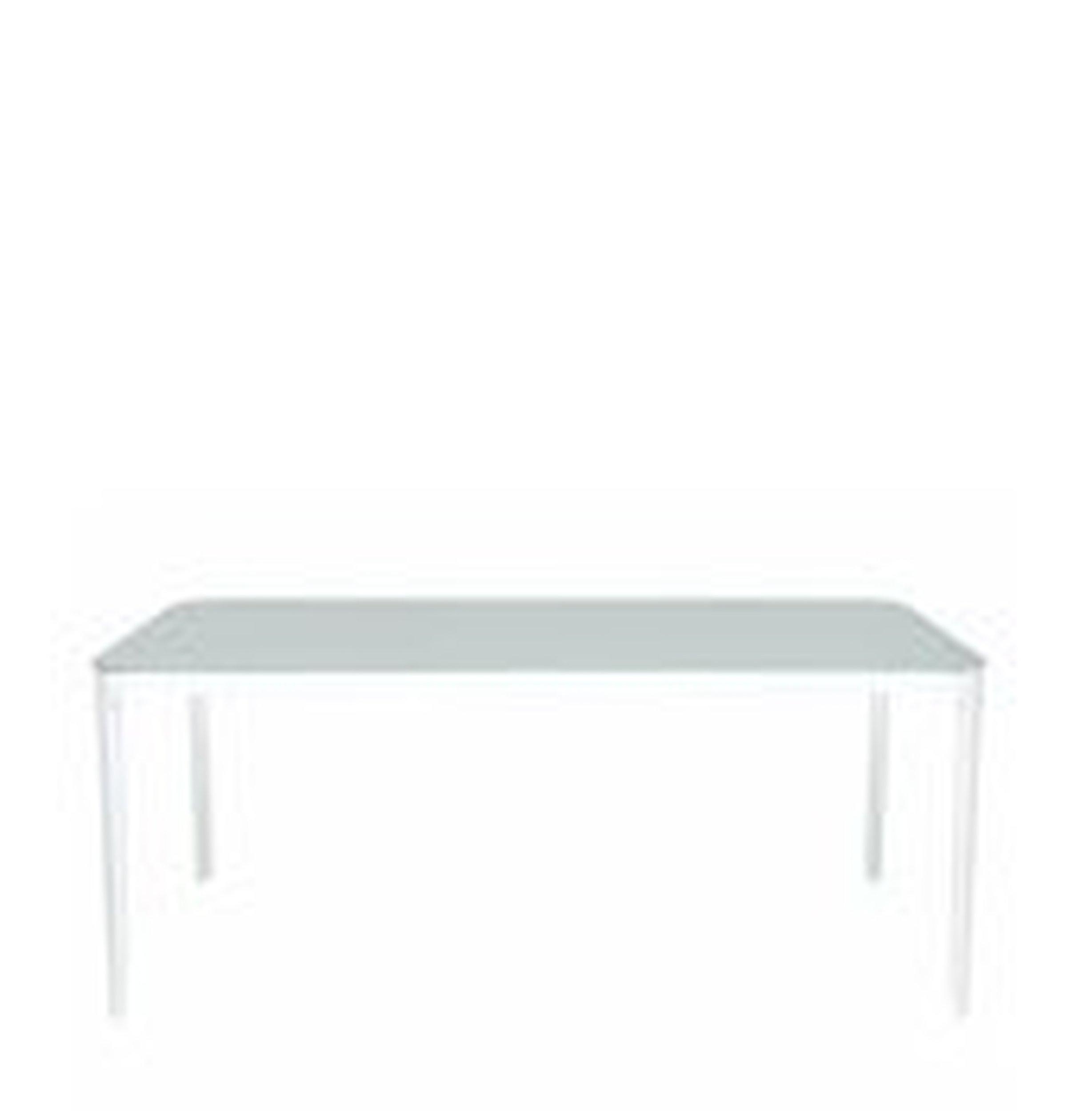 Stół Vanity prostokątny 140 cm biała rama biały blat - małe zdjęcie