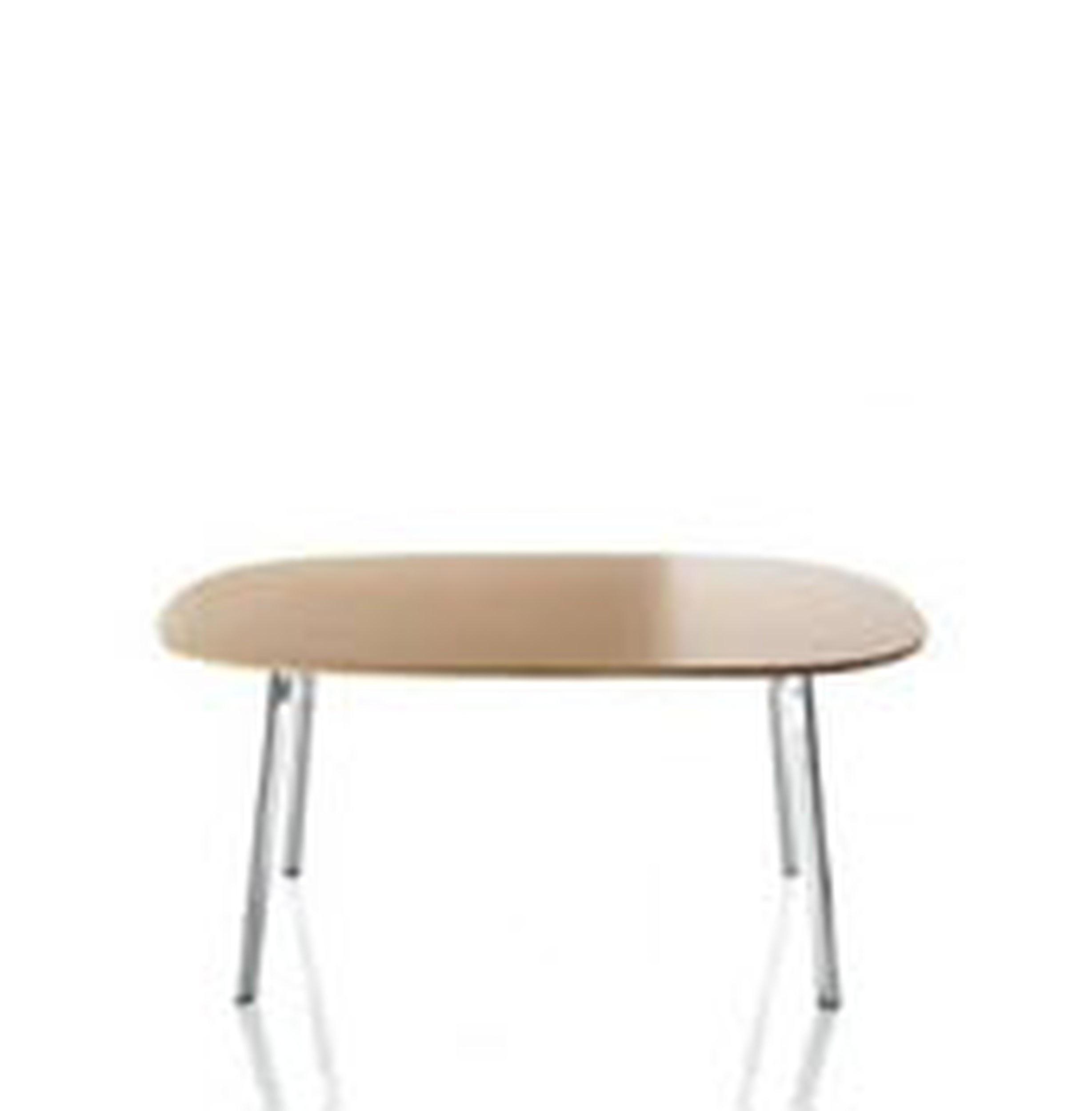 Stół owalny Deja-vu 160 x 98 cm blat z MDF z dębowym laminatem - małe zdjęcie