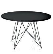 Stół XZ3 okrągły czarny blat czarna rama