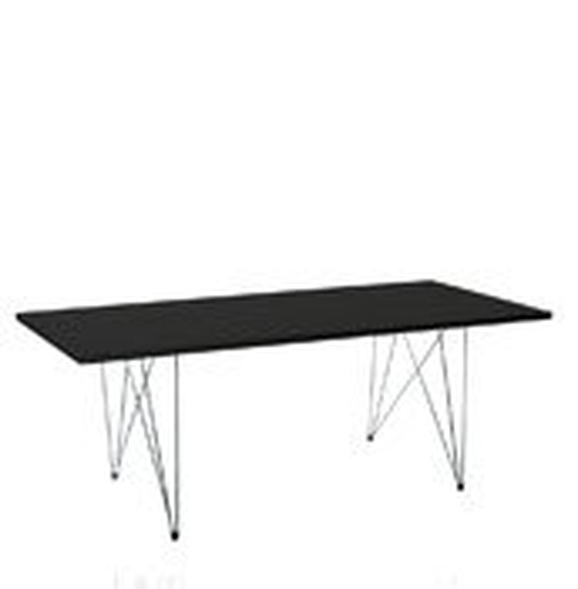 Stół XZ3 prostokątny czarny blat chromowana rama - małe zdjęcie