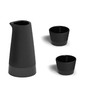 Karafka i szklanki do sake Naturally Cooling Ceramics
