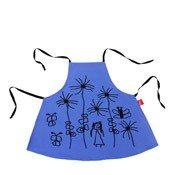 Fartuszek Mała Rzecz kwiatki niebieski