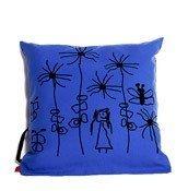Poduszka Mała Rzecz kwiatki niebieska - małe zdjęcie
