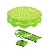 Akcesoria do domowych chipsów Topchips z tarką zielone - małe zdjęcie