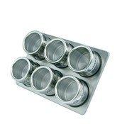 Pojemniki na przyprawy na stojaku magnetyczne Mastrad 6 szt. - zdjęcie 1