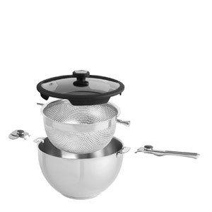 Zestaw naczyń Balancia z wkładem do gotowania na parze i makaronu