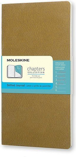 Notes Moleskine Chapters Journal M oliwkowy w kropki