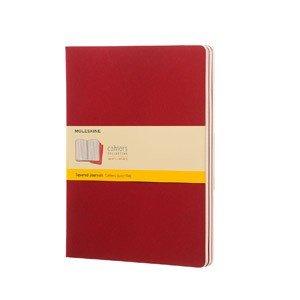 Zeszyty Moleskine Cahier Journals XL 3 szt. w kratkę