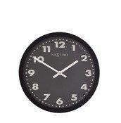 Zegar ścienny Mercure czarna tarcza 25 cm